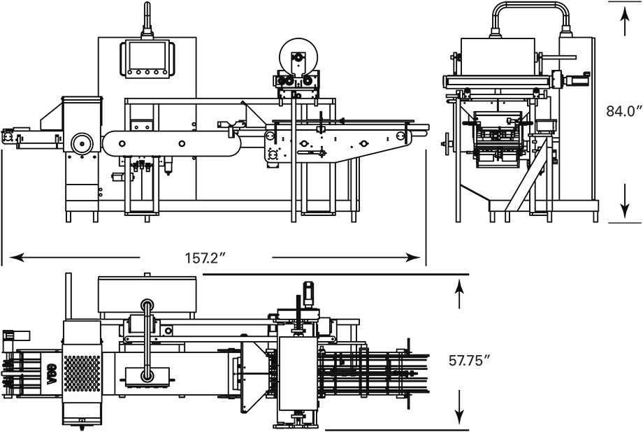 FG-2000S Line Drawing